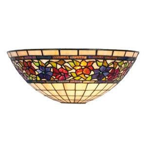 Artistar Nástěnné světlo Flora, Tiffanystyl,nahoru otevřené