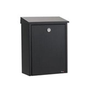 Juliana Jednoduchá poštovní schránka z oceli, černá