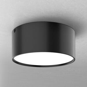 Ailati Jednoduché LED stropní svítidlo Mine, černé 14 cm