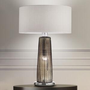 Ailati Stolní lampa Perla, textilní stínidlo, sklo šedé