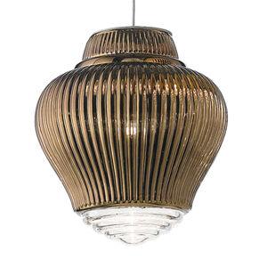 Ailati Závěsné světlo Clyde 130 cm bronzová metalíza
