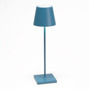 Ailati Stolní lampa LED Poldina s baterií, přenosná modrá