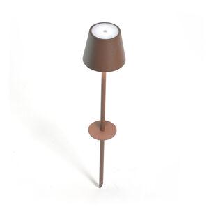 Ailati LED zapichovací svítidlo Poldina hnědé, 60 cm
