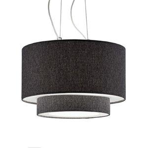 Artempo Italia Závěsné světlo Morfeo textilní stínidlo antracit