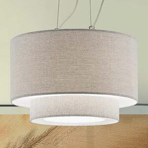 Artempo Italia Závěsné světlo Morfeo textilní stínidlo krémové