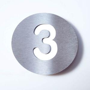 Absolut/ Radius Domovní číslo Round z nerezu - 3