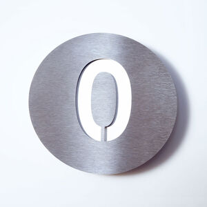 Absolut/ Radius Domovní číslo Round z nerezu - 0