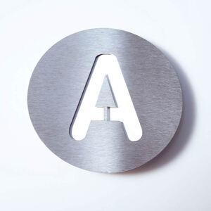 Absolut/ Radius Nerezové domovní číslo Round - A