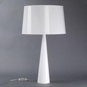 Aluminor Stolní lampa Totem LT, kovová noha, lesklá bílá