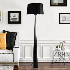 Aluminor Stojací lampa Totem LS s chromovanou úpravou černá