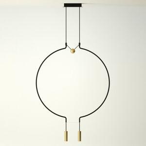 Axo Light Axolight Liaison M2 závěsné světlo čerň/zlato 84cm
