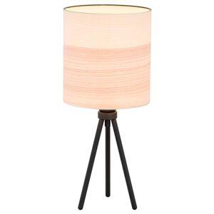 ARGON Stolní lampa Harris, třínožka, černá/dřevo světlé