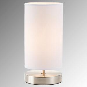 Brilliant Bílá textilní stolní lampa Claire