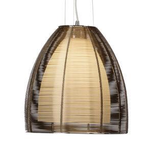 Brilliant Závěsné světlo Relax, 1 žárovka, 30cm bronz