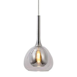 Brilliant Závěsné světlo Hadan, 1zdroj sklo šedé/průhledné