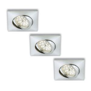 Briloner LED podhledové svítidlo Erik 3ks hranaté hliník