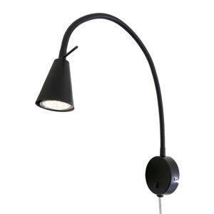 Briloner LED nástěnné světlo 2082 se stropním prvkem, černá