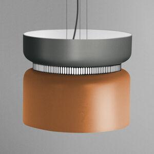 B.lux LED závěsné světlo Aspen S, šedá, mango 40 cm