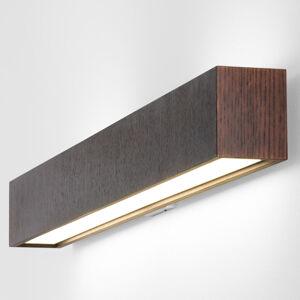 B.lux Dlouhé LED nástěnné světlo Quadrat W wenge