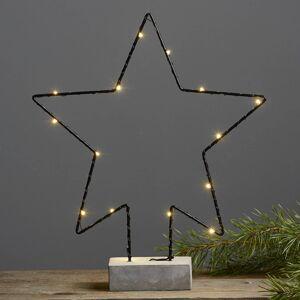 Best Season Betonová ozdobná lampa Cemmy tvar hvězdy