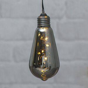 Best Season Vintage LED světlo Glow s časovačem, kouřová