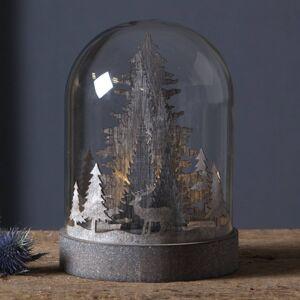 Best Season LED dekorativní světlo Kupol lesní scéna, hnědá