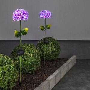 Best Season Hortensia solární světlo ve tvaru květiny, růžové