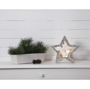 Best Season Fauna LED dekorativní světlo ze dřeva, výška 24 cm
