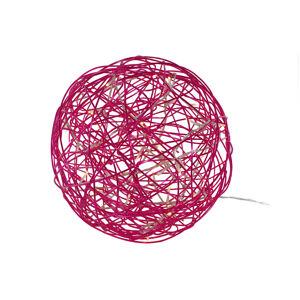 Best Season LED 3D designová koule Galax Fun, Ø 30 cm, fuchsie