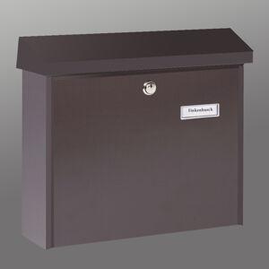 Burgwächter Prostá ocelová poštovní schránka AMSTERDAM, hnědá