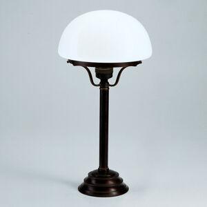 Berliner Messinglamp Stolní lampa Frank s antickým rustikálním vzhledem
