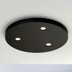 BOPP Bopp Close LED stropní světlo 3zdroje kulaté černá