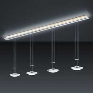 BANKAMP BANKAMP Strada Saturno závěsné světlo, 4x 185 cm