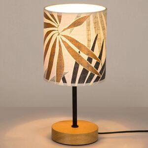 BRITOP Stolní lampa Jaro s potiskem a základna z dubu