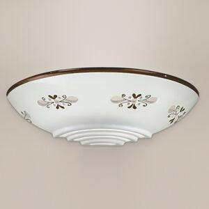Cremasco Nástěnné světlo Bassano z keramiky, přilehlé hnědé