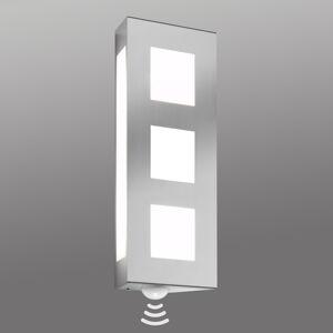 CMD Venkovní nástěnné svítidlo Trilo z nerezu senzor