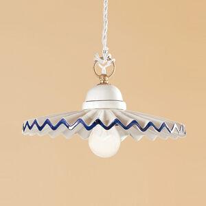 Ceramiche Závěsné světlo PIEGHE ve venkovském vzhledu 28 cm