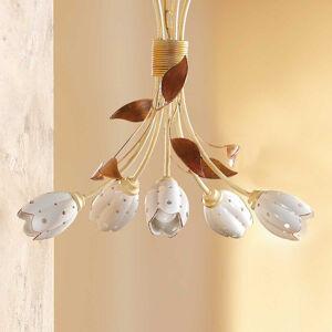 Ceramiche 5zdrojové květinové závěsné světlo TULIPANO