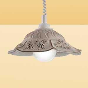 Ceramiche Závěsné světlo VITELA s rustikálním vzhledem