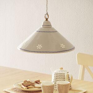 Ceramiche Bílé závěsné světlo NONNA z keramiky 40 cm