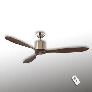 CASAFAN Aeroplan Eco stropní ventilátor, chrom, ořech
