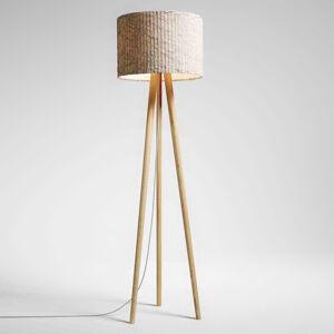 Domus Stojací lampa Sten Cloud, bílý dub, oblázek