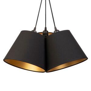 DUOLLA Závěsné světlo Twiggy, tři zdroje, černá