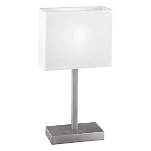 EGLO Prostá stolní lampa Pablo, niklová matná