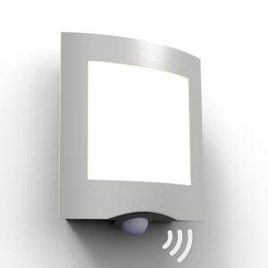 Eco-Light LED venkovní nástěnné světlo Farell, nerez senzor