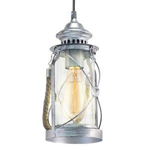 EGLO Závěsné světlo Fedor ve stříbrné barvě