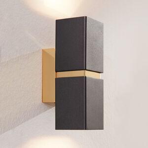 EGLO Nástěn. LED světlo Passa, dvě žárovky, černě-zlaté