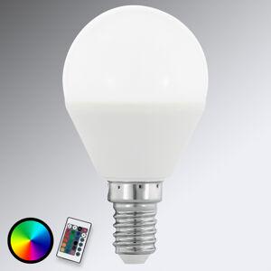 EGLO E14 4W 830 LED žárovka ve tvaru kapky, RGB