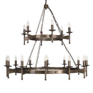 Elstead Středověký lustr CROMWELL, 18 zdrojů