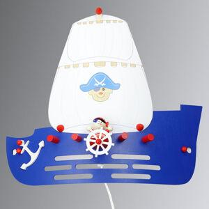 Elobra Nástěnné světlo Pirátská loď do dětského pokoje